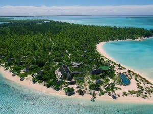 Aerial view of The Brando, Tahiti