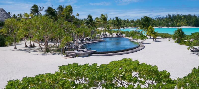 Swimming pool at The Brando, Tahiti