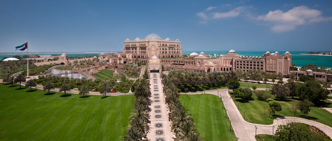 Palace terrace at Emirates Palace, Abu Dhabi