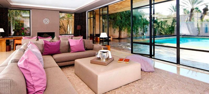 Villa Namaskar living room at Palais Namaskar, Marrakech