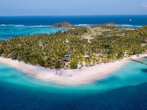 Aerial View of Palm Island Resort & Spa, St Vincent & The Grenadines