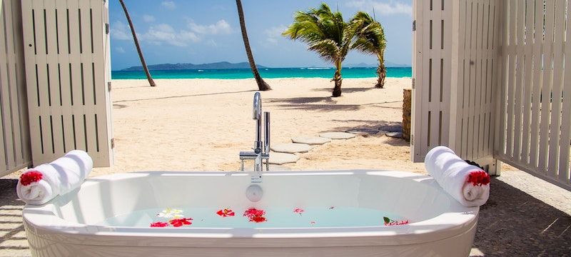 Tranquil ocean-side spa setting at The Verandah Resort & Spa, Antigua