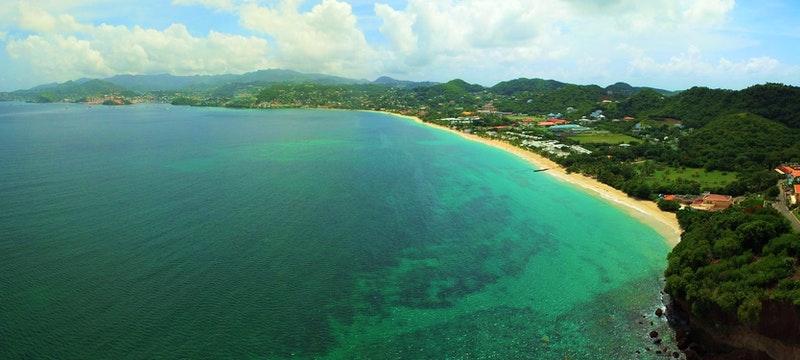 Panoramic view of Coyaba Beach Resort, Grenada