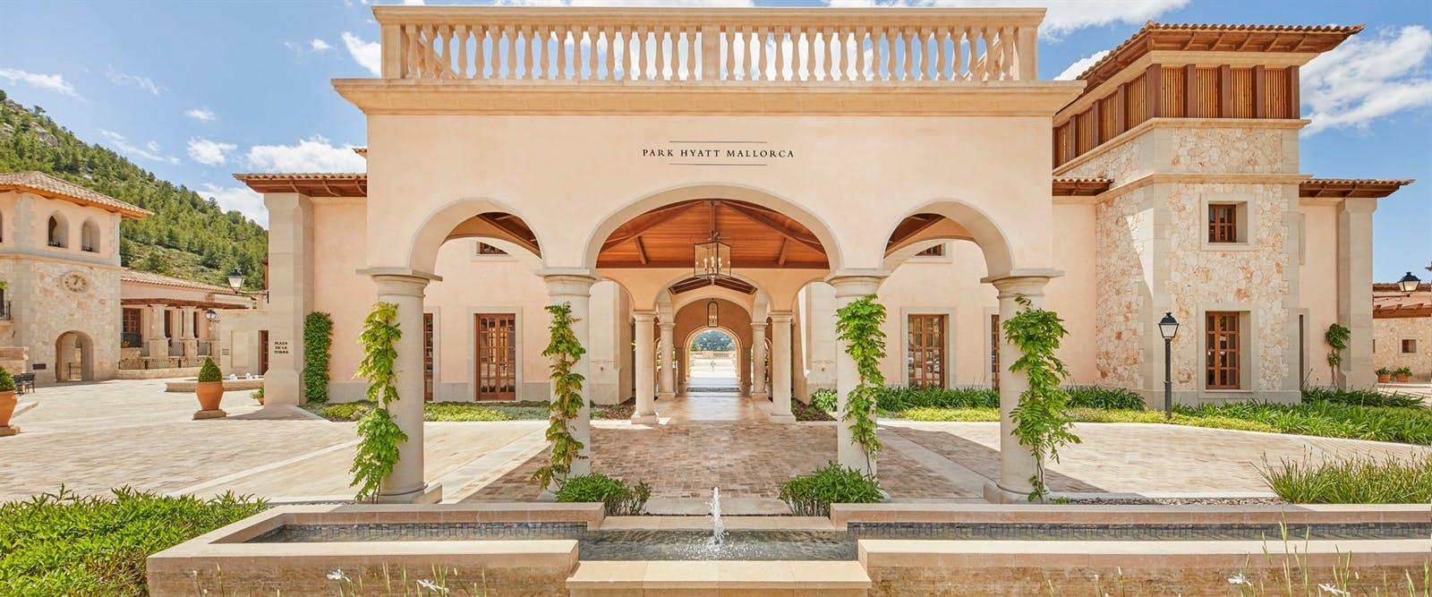 Main Entrance to Park Hyatt Mallorca, Spain