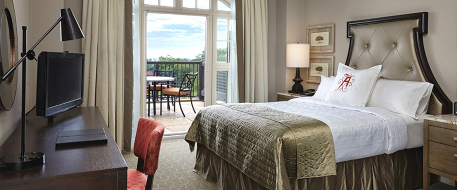 Guest room with patio at The Algonquin Resort, St. Andrews
