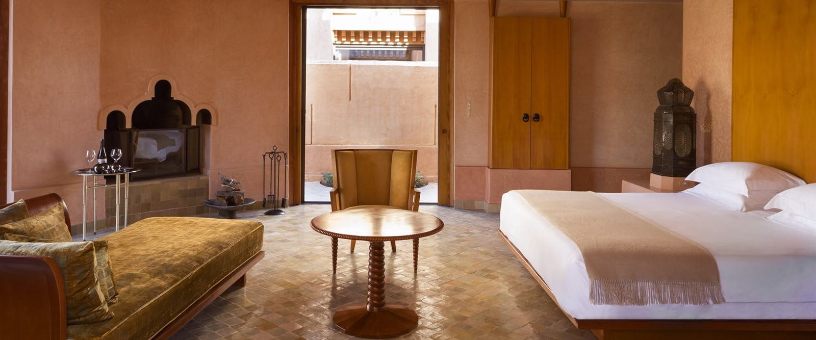 Pavilion Bedroom at Amanjena, Marrakech, Morocco
