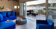 Penthouse lounge overlooking the harbour at South Point, Antigua