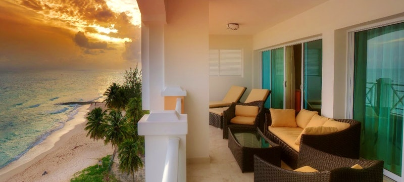 Stunning view of the ocean from penthouse at Ocean Two, Barbados