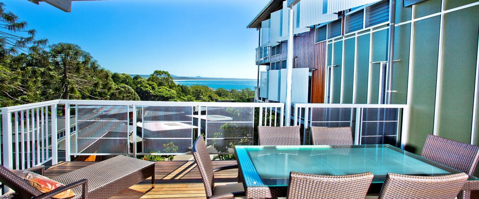 Three bedroom deluxe villa balcony, Peppers Noosa Resort and Villas