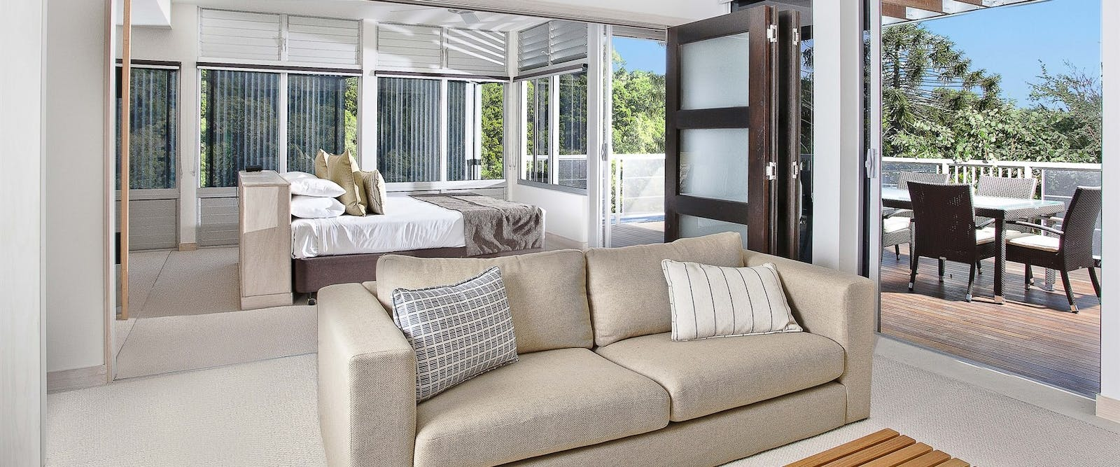 Three bedroom deluxe villas lounge, Peppers Noosa Resort and Villas