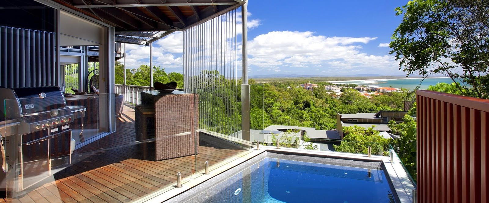 Grande Villa plunge pool, Peppers Noosa Resort and Villas