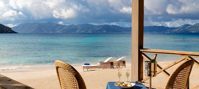 Enjoy private dining on the ocean front at Peter Island Resort & Spa, British Virgin Islands