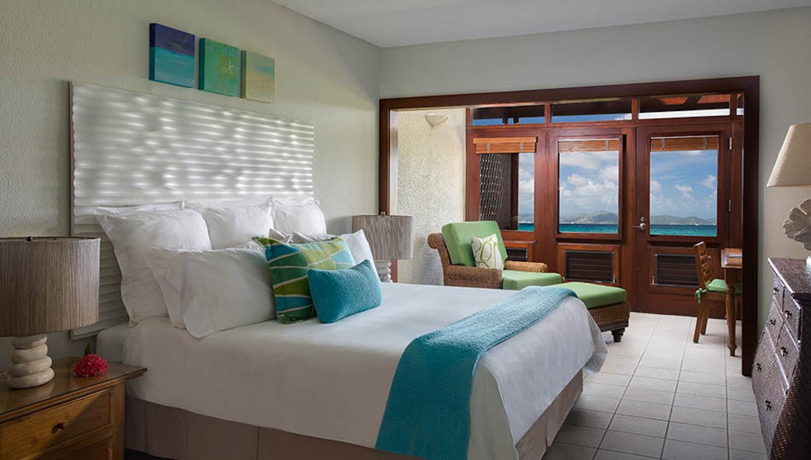 Ocean view room at Peter Island Resort & Spa, British Virgin Islands