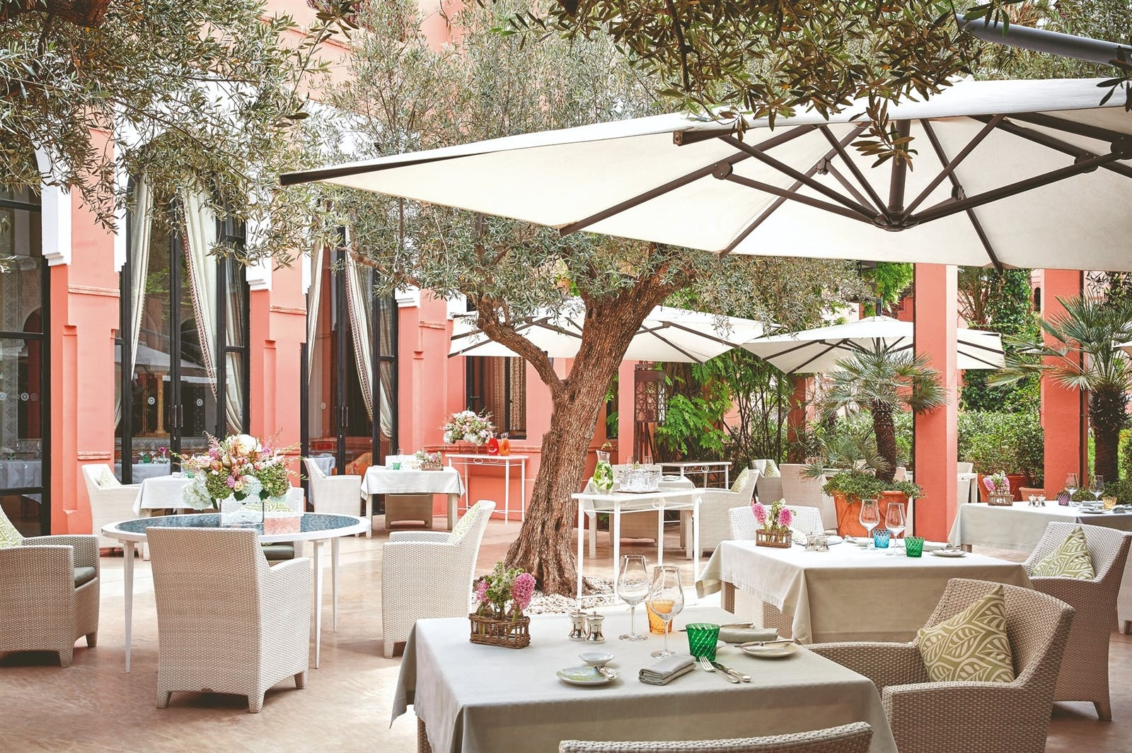 Al fresco dining at Royal Mansour, Marrakech