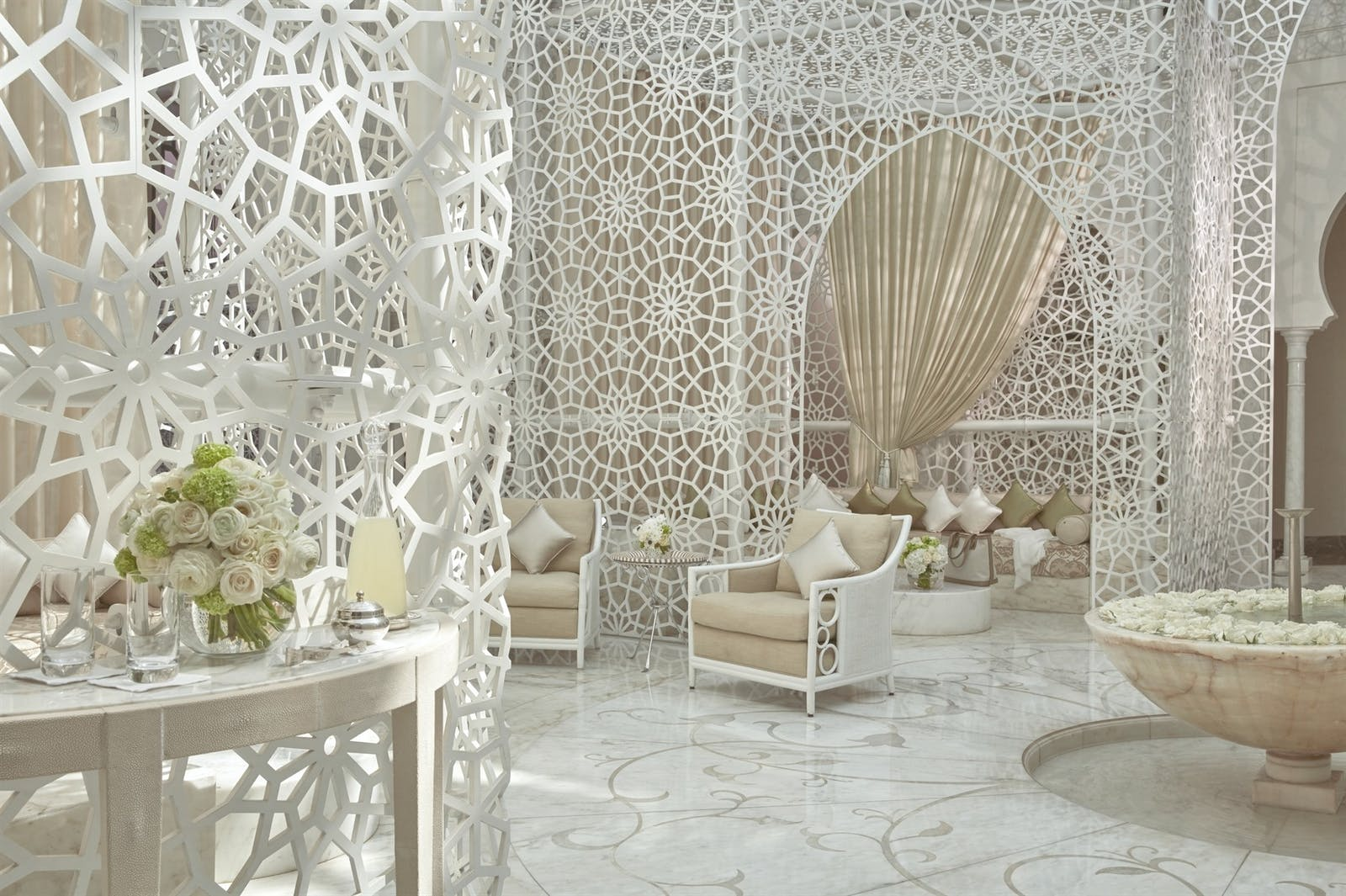 Intricately designed interiors at Royal Mansour, Marrakech