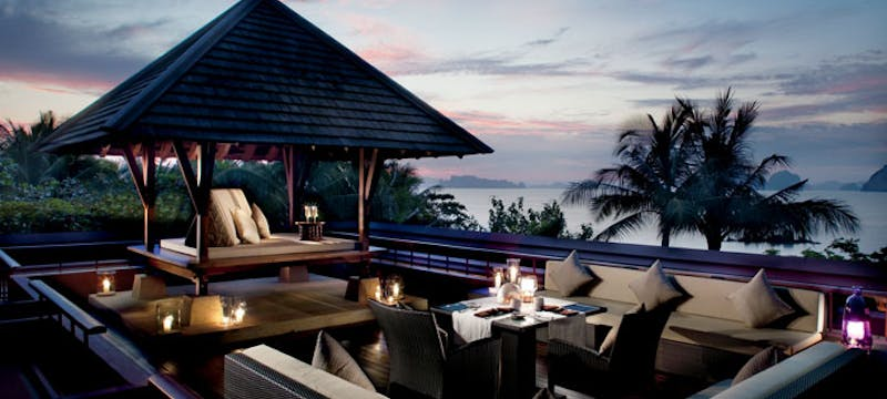 Outdoor dining at Phulay Bay, Thailand