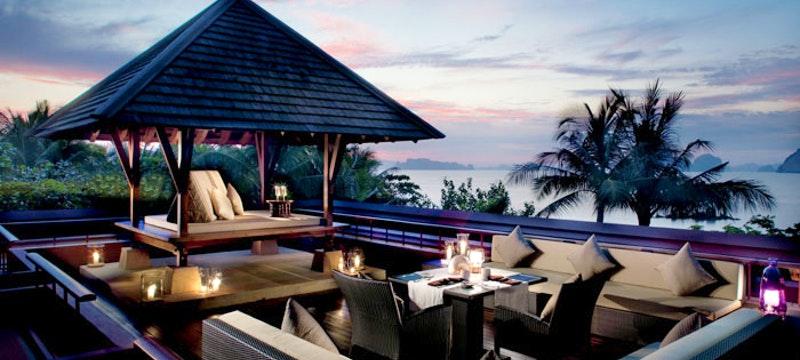 Outdoor dining at Phulay Bay, Thailand