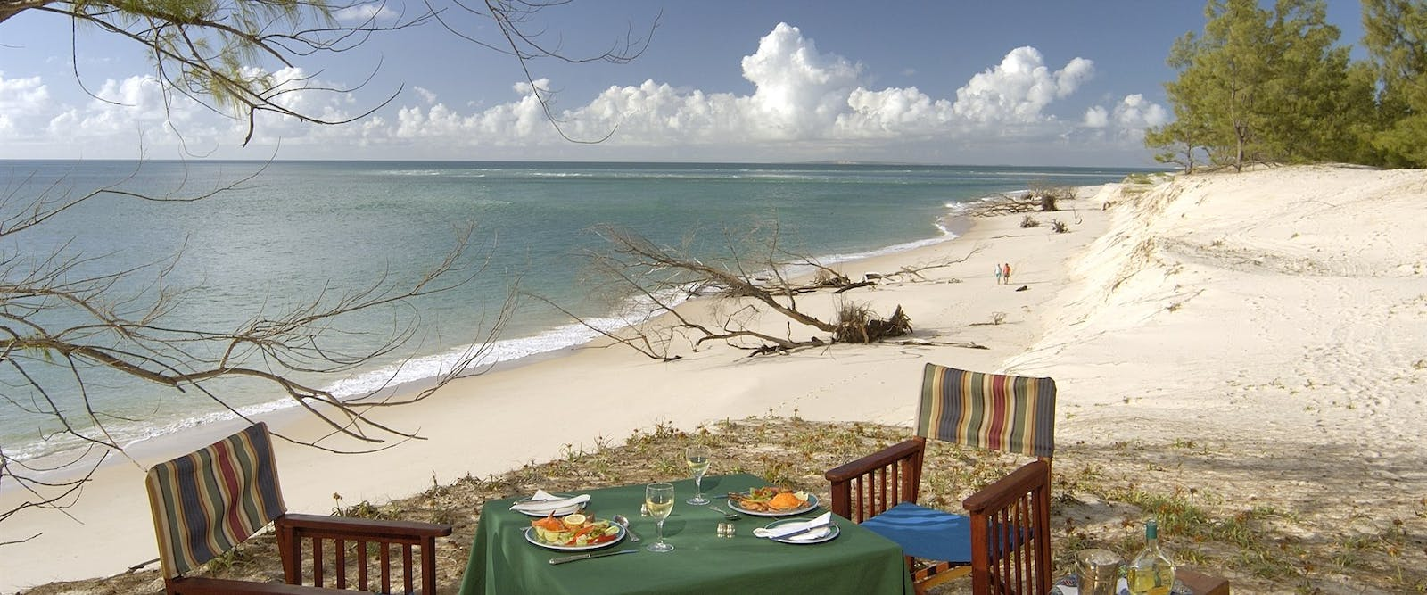 Picnic on the beach at &Beyond Benguerra Island Lodge