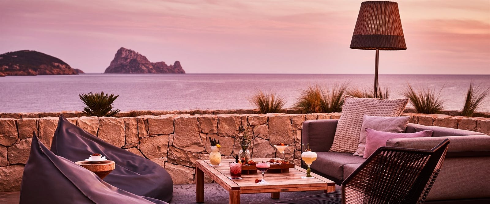 Pershing Yacht Terrace at Seven Pines Resort, Ibiza, Spain