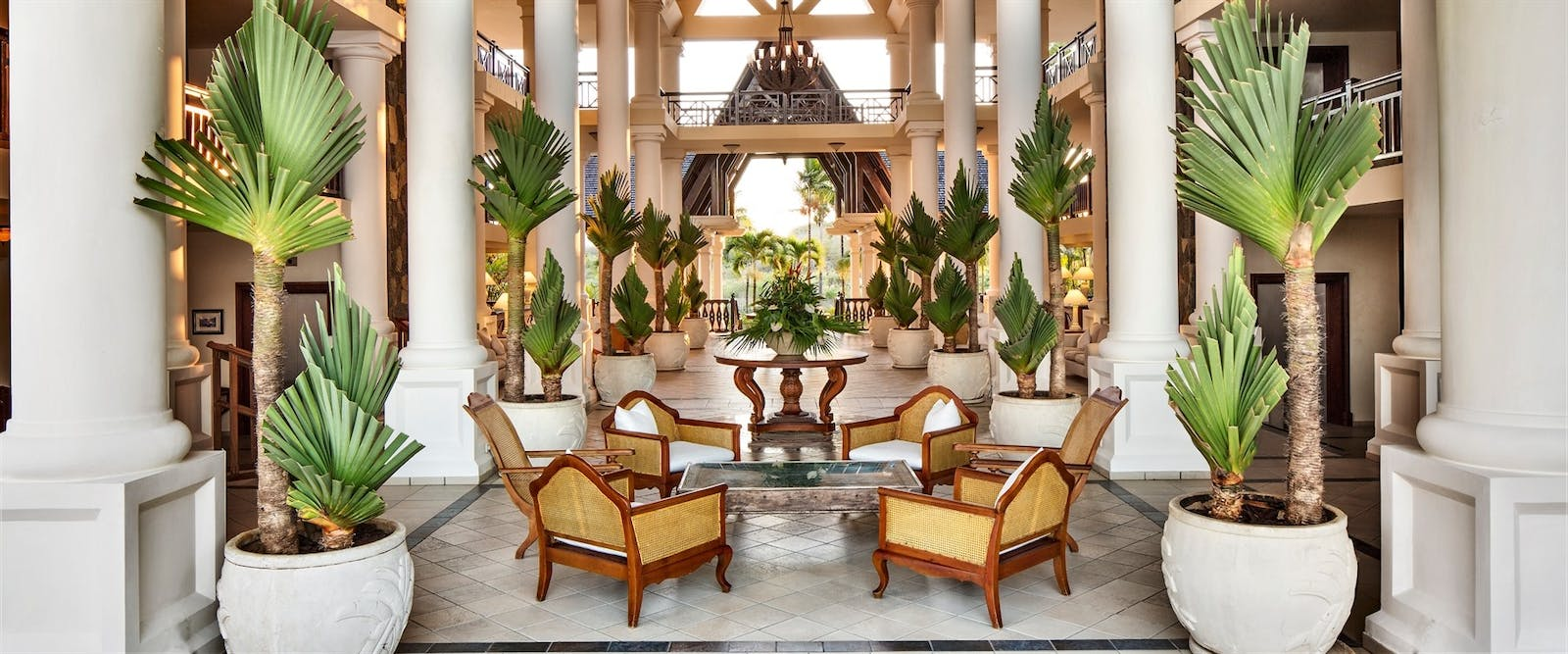Lobby Interior at The Residence Mauritius, Indian Ocean