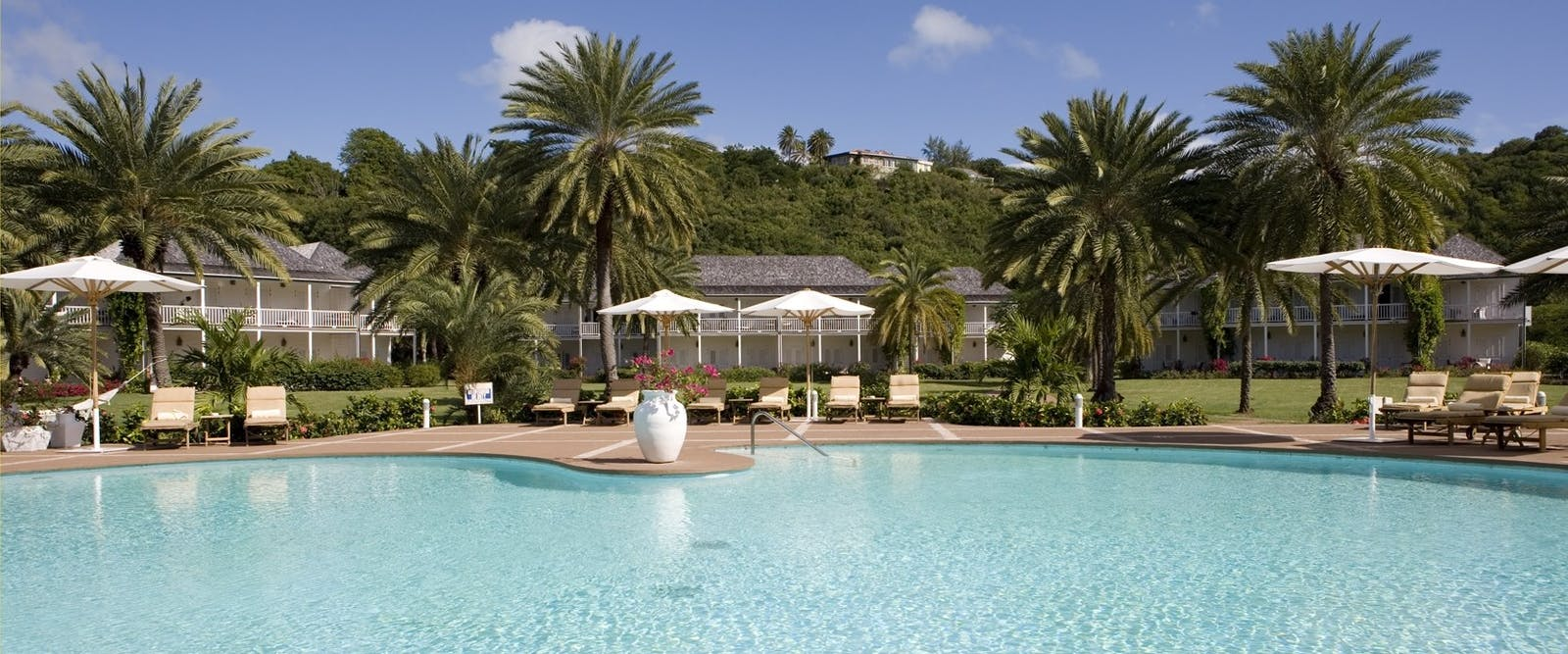 Pool Side at The Inn at English Harbour, Antigua
