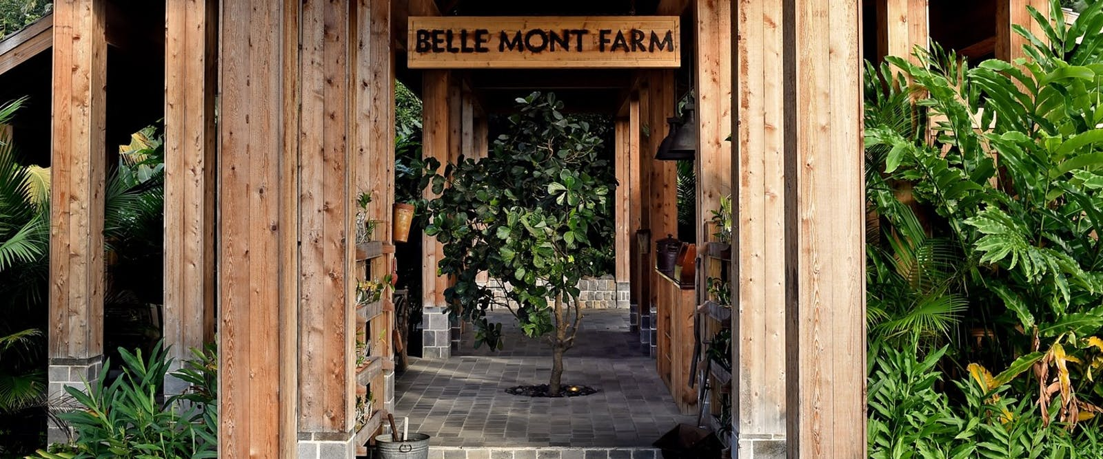 Entrance to Belle Mont Farm, St Kitts