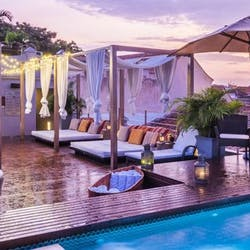 Pool area at Ananda Hotel Boutique