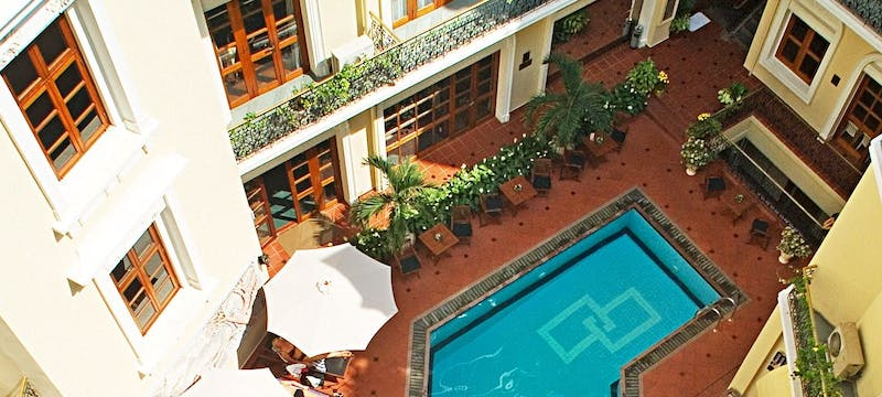 Swimming pool at Hotel Majestic