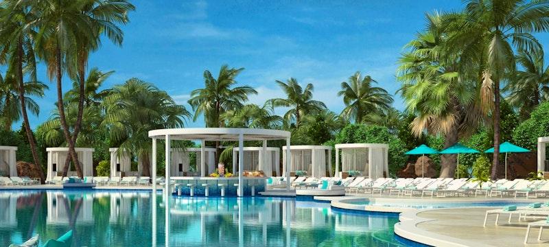Coral pool at Atlantis, Bahamas