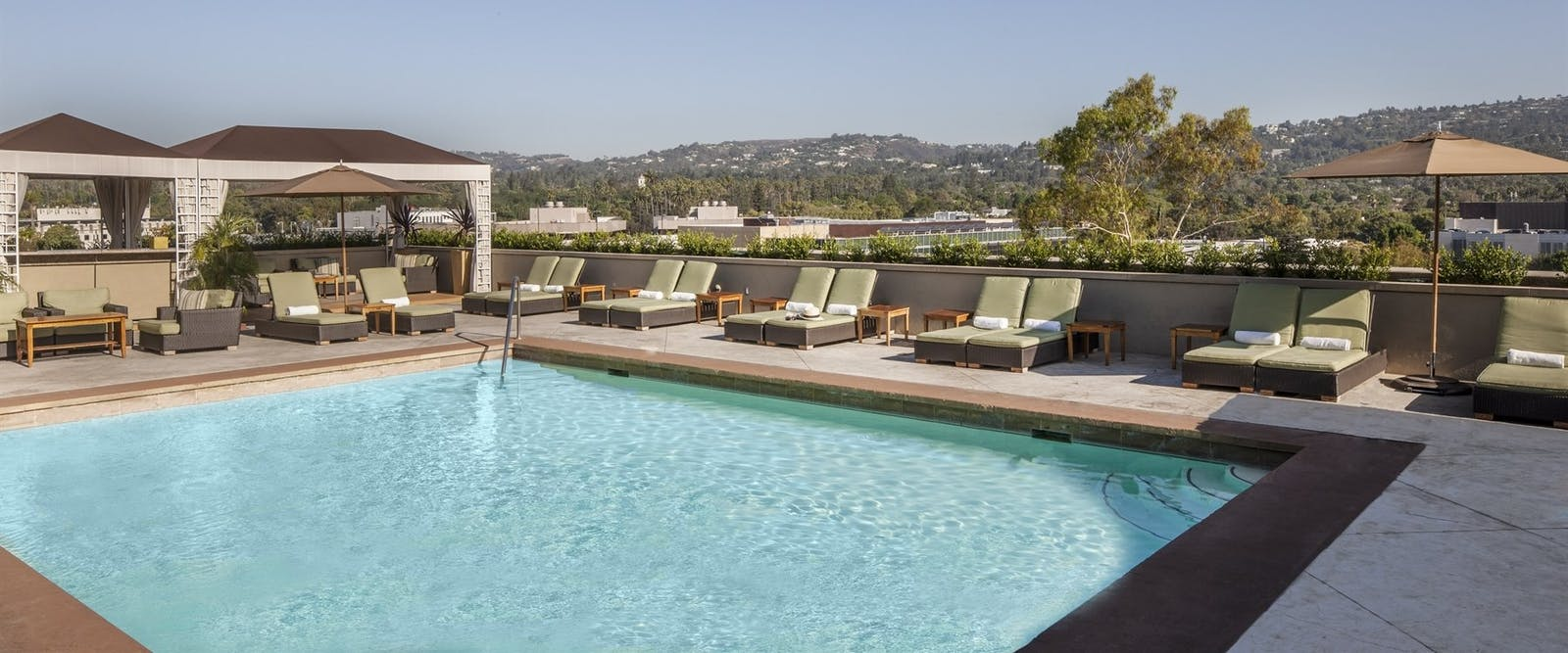 Rooftop Pool at at Viceroy L'Ermitage Beverly Hills