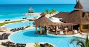 Pool area at Secrets St James & Secrets Wild Orchid Montego Bay, Jamaica