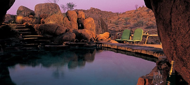Pool area at Mowani Mountain Camp