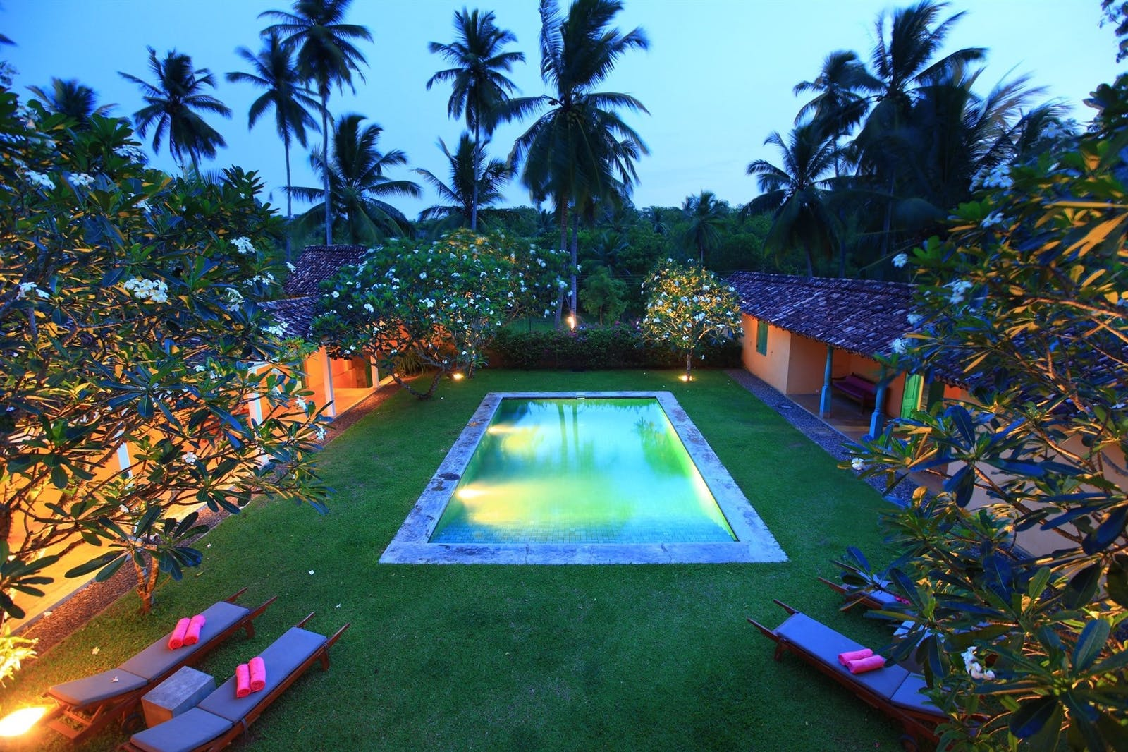 Evening Pool View, The Last House, South Coast Beaches, Tangalle, Sri Lanka