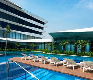 Swimming pool at Conrad, Manila