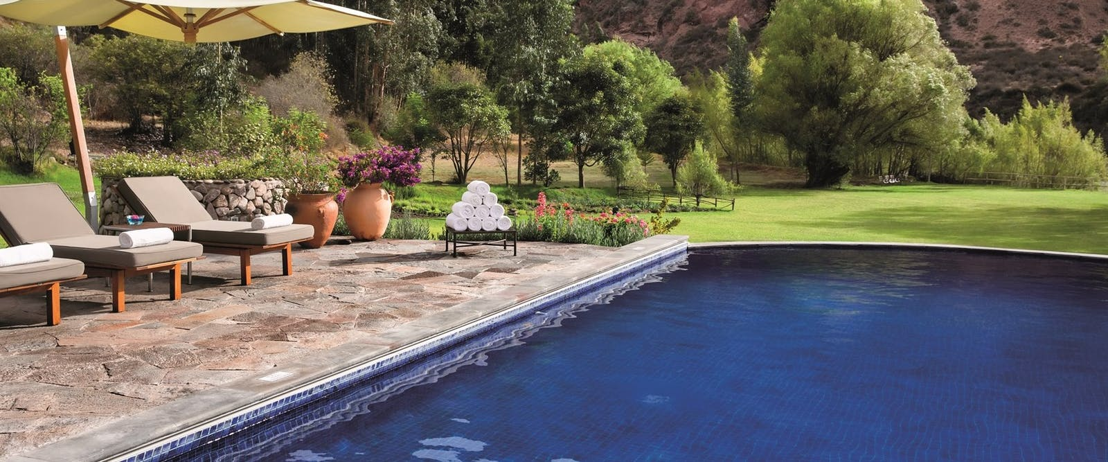 Swimming pool, Rio Sagrado, A Belmond Hotel, Sacred Valley