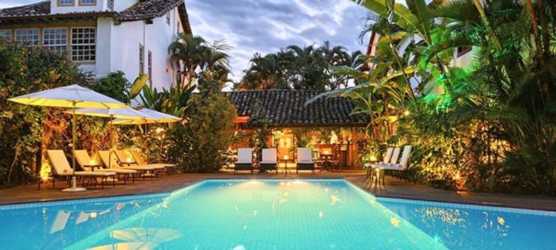 Pool area at Pousada do Ouro, Brazil