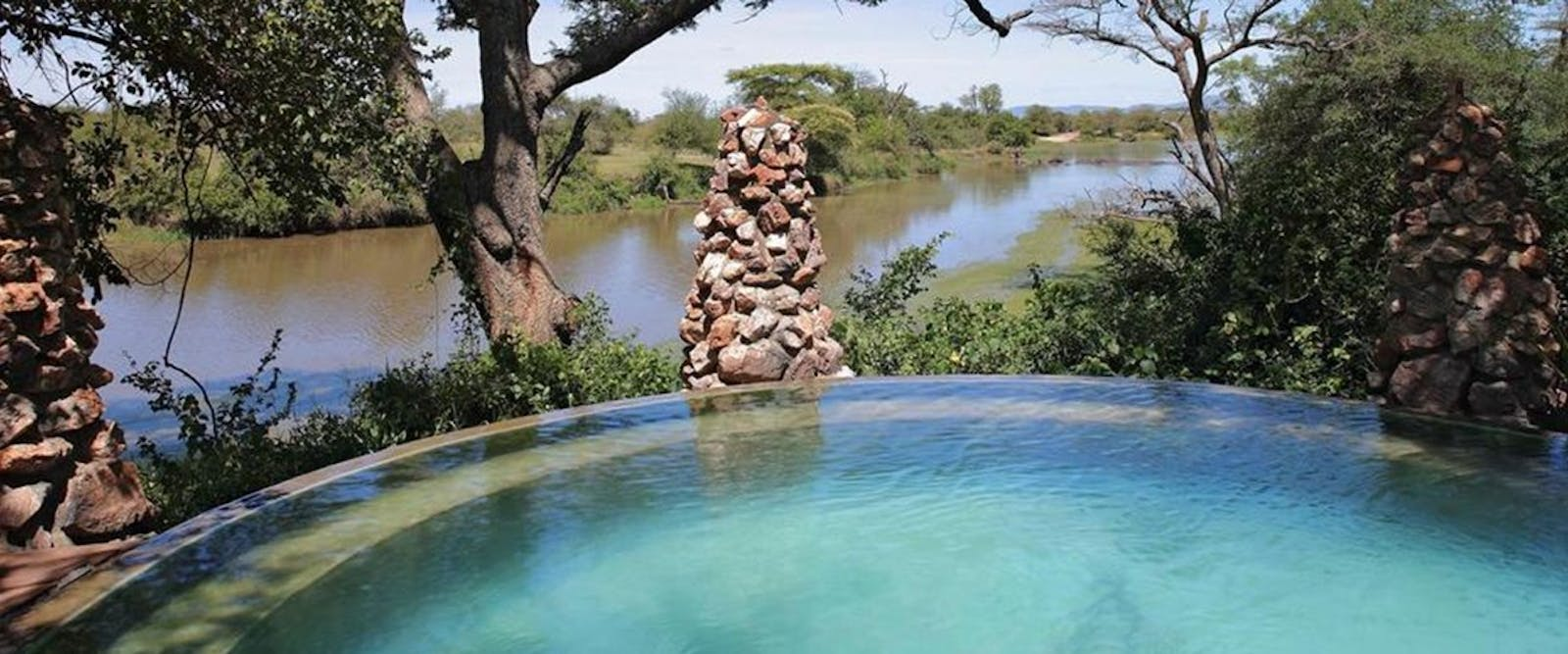 Pool area at &Beyond Grumeti Serengeti Tented Camp