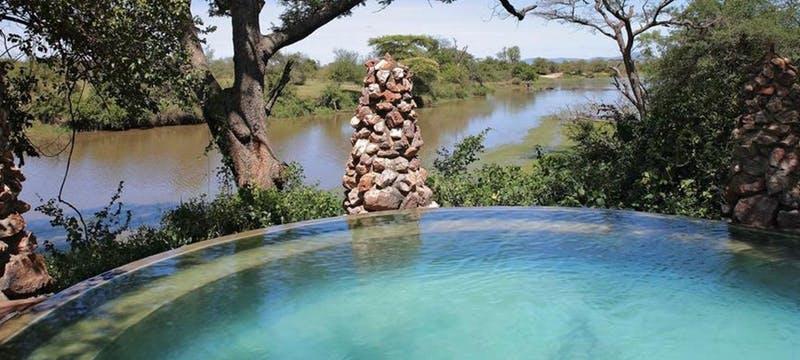 Pool area at &Beyond Grumeti Serengeti Tented Camp