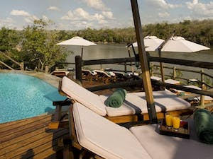 Pool deck area at Serena Mivumo River Lodge