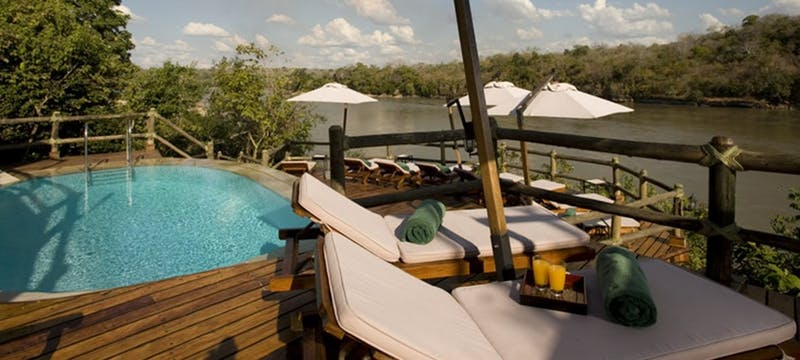 Pool deck area at Serena Mivumo River Lodge
