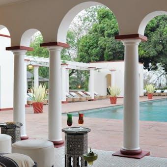 Pool Pavilion at Victoria Falls Hotel, Zimbabwe