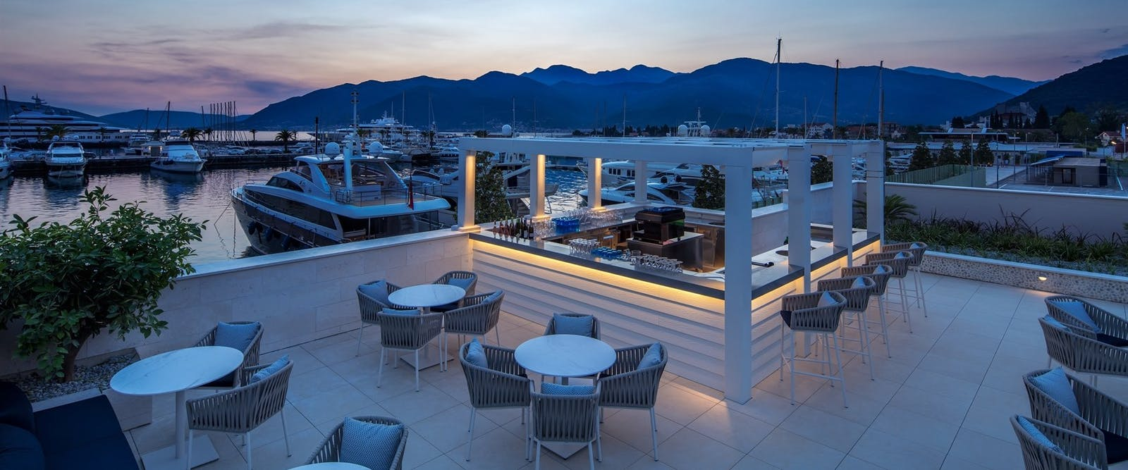 Pool bar at Regent Porto, Montenegro