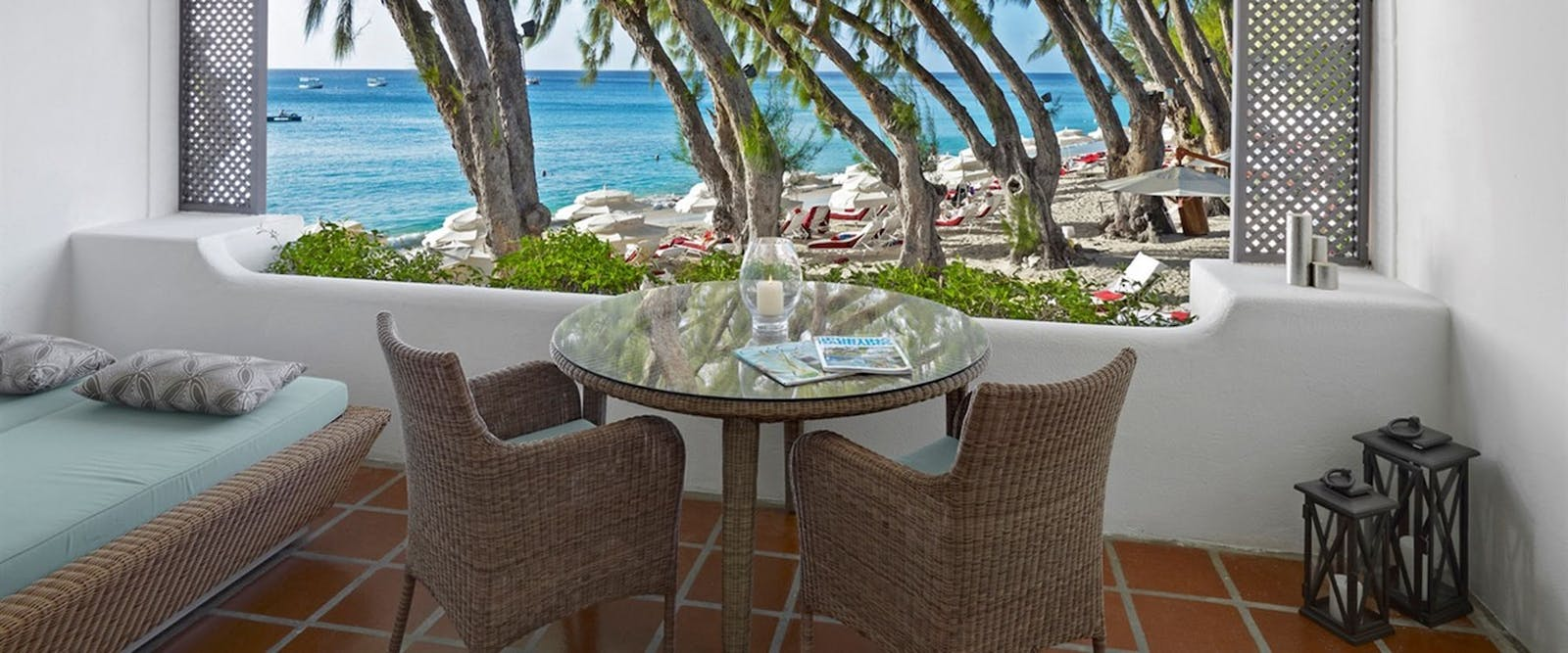 Ocean View Balcony at Colony Club by Elegant Hotels, Barbados, Caribbean