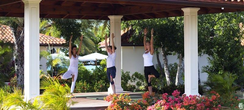 sense spa yoga pavilion at jumby bay a rosewood resort antigua