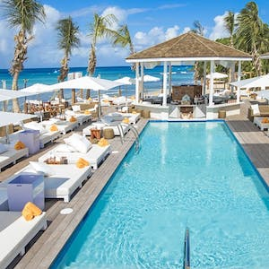 nikki beach pool area at port ferdinand marina and luxury residences barbados