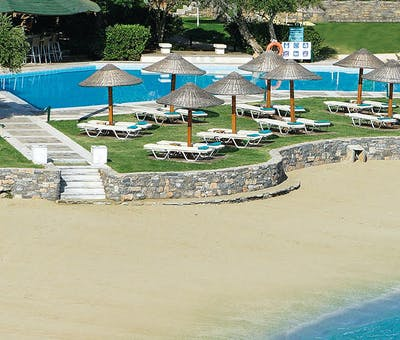 Beach at Porto Elounda Golf & Spa Resort, Crete