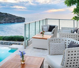 Terrace at Jumeirah Port Soller Hotel & Spa, Mallorca
