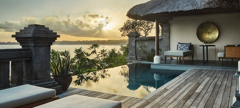 Premier Villa Pool deck at Four Seasons Resort Bali at Jimbaran Bay