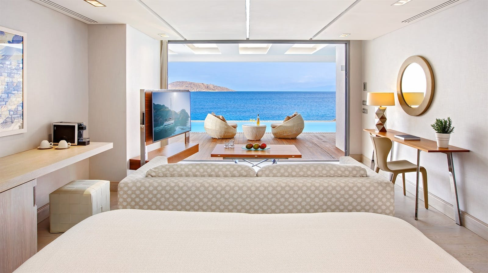 Premium Waterfront Junior Suite, Elounda Beach Hotel & Villas, Crete, Greece