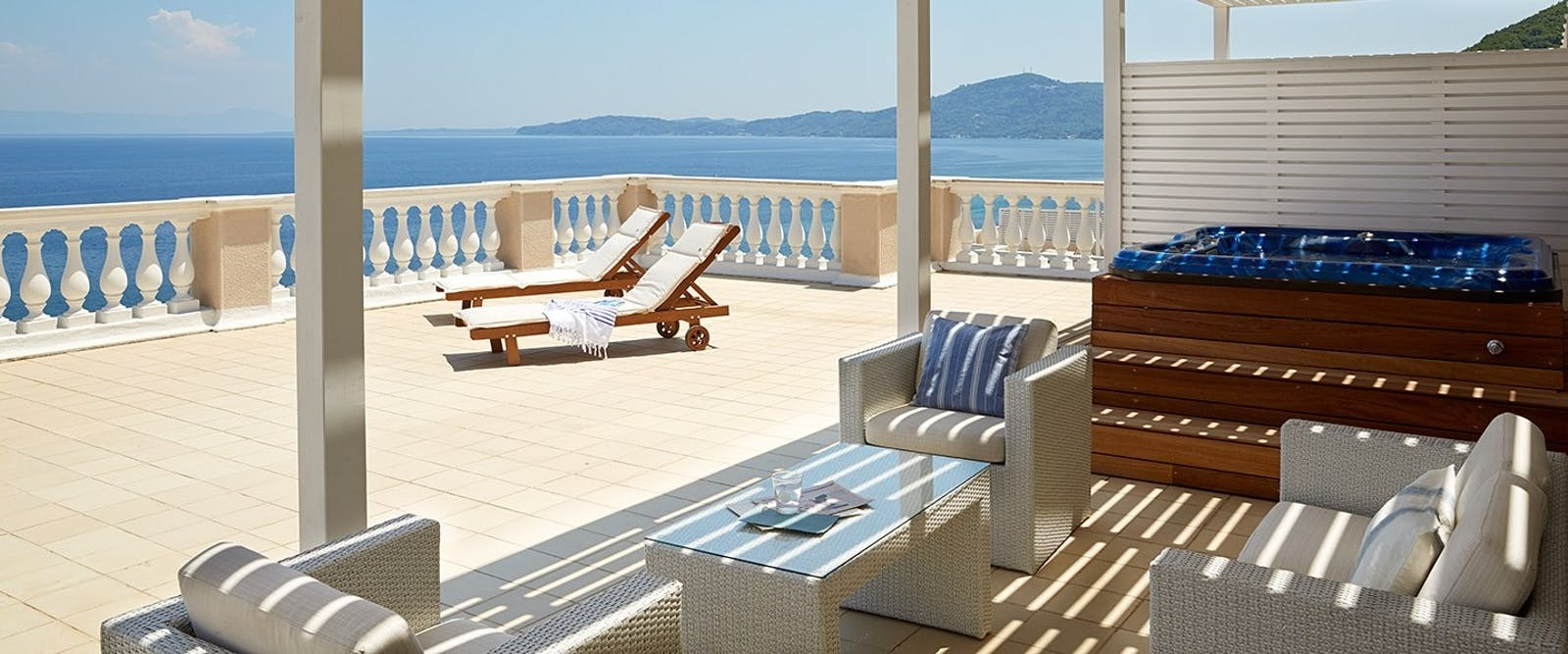 Presidential Suite Terrace at Marbella Corfu, Cyprus